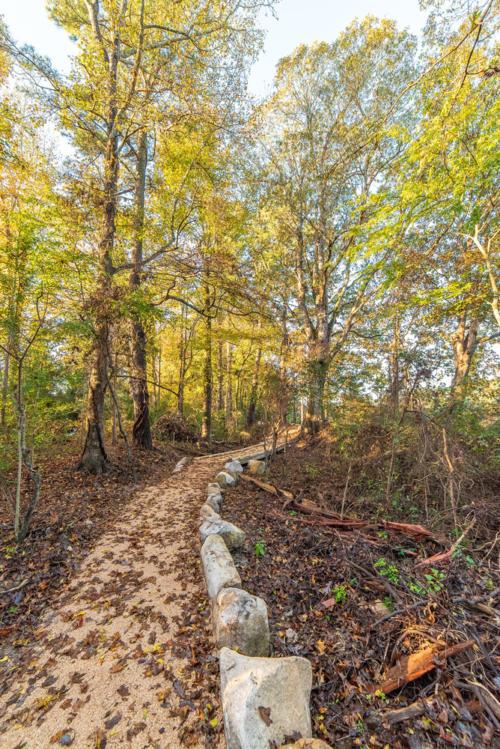 Boulder Lined Walking Trail North Carolina Trail Builder