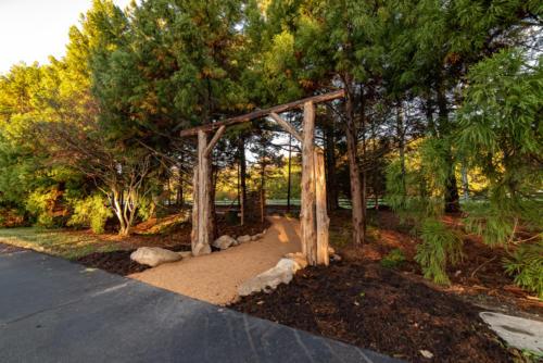 Cedar Trailhead Arch North Carolina Trail Builder