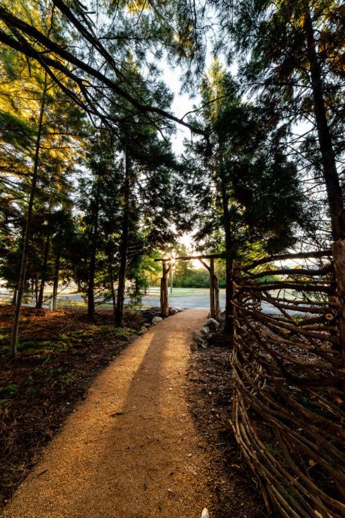 Cedar Trailhead Arch & Cypress Screen North Carolina Trail Builder