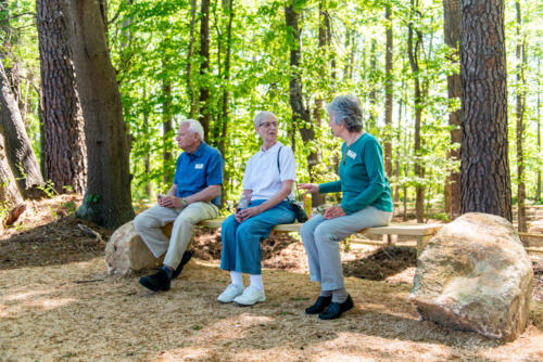 Nature Preserve Rock Bench North Carolina Trail Builder