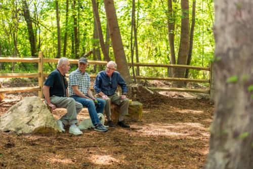Dog Park Boulder Bench North Carolina Trail Builder