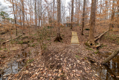 Wide View of Trail Steps North Carolina Trail Builder