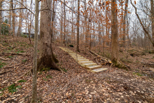 Side View of Trail Steps North Carolina Trail Builder